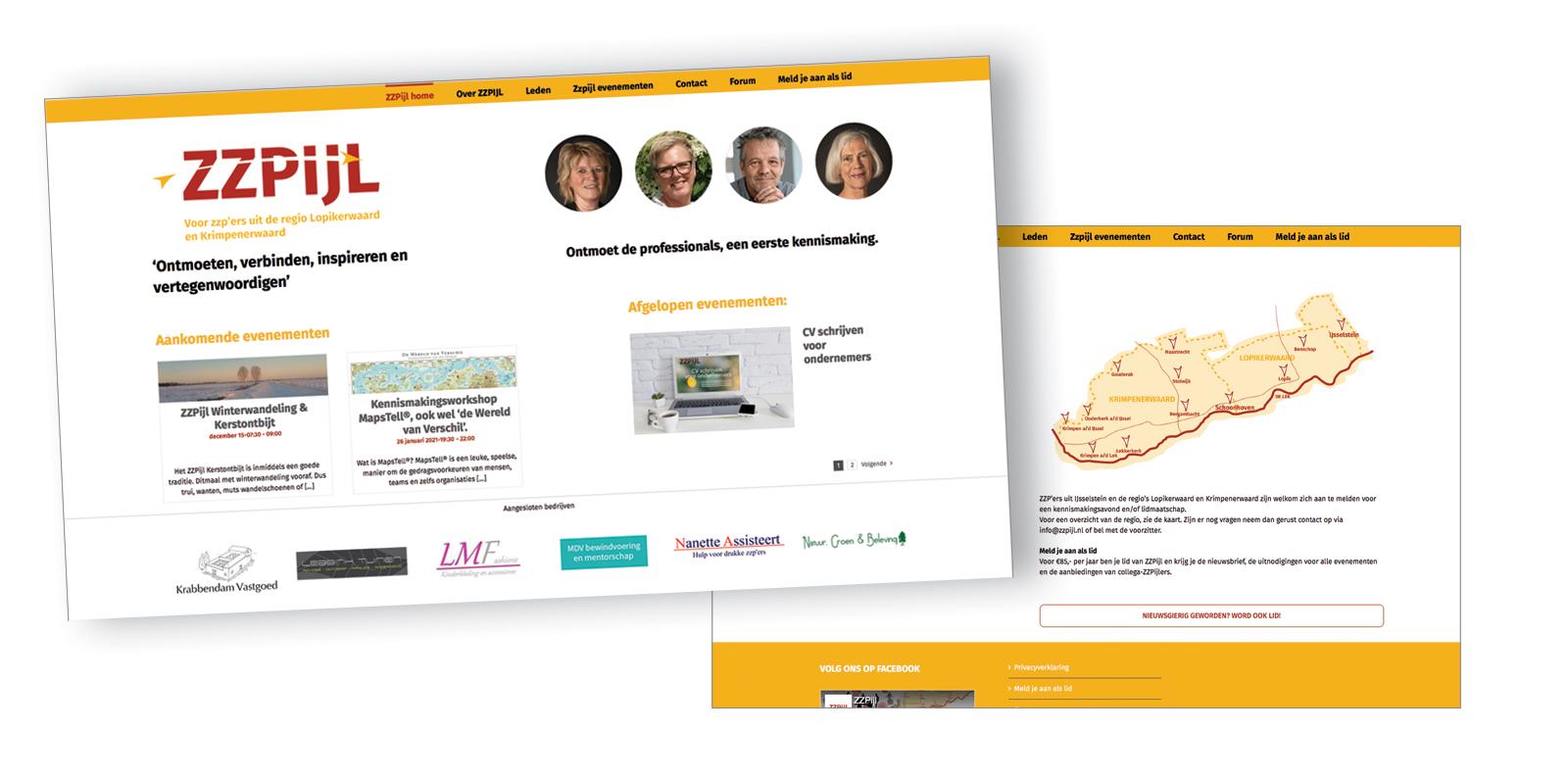 ZZPIJL logo en website ontwikkeld