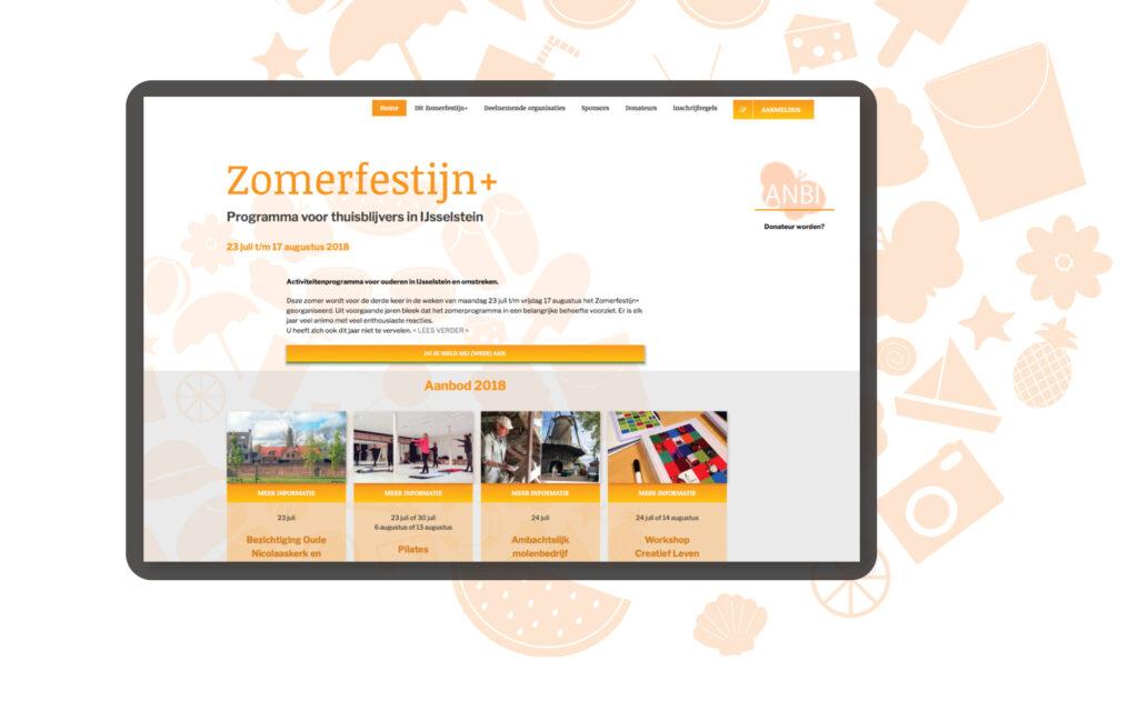 website ontwerp Zomerfestijn IJsselstein